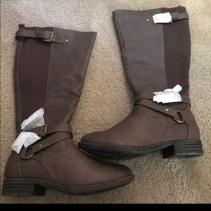 Wide Calf Lane Bryant Riding Boots
